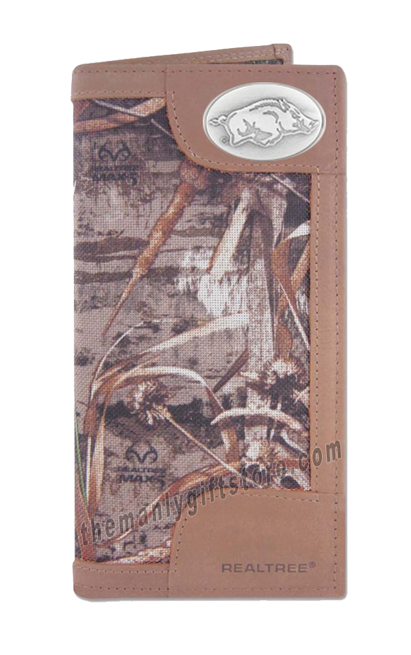 Arkansas Razorbacks Roper REALTREE MAX-5 Camo Wallet