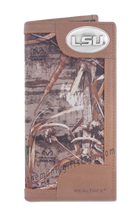 Load image into Gallery viewer, Louisiana State University LSU Roper REALTREE MAX-5 Camo Wallet