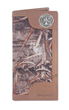 Load image into Gallery viewer, Maltese Cross Fireman Roper REALTREE MAX-5 Camo Wallet