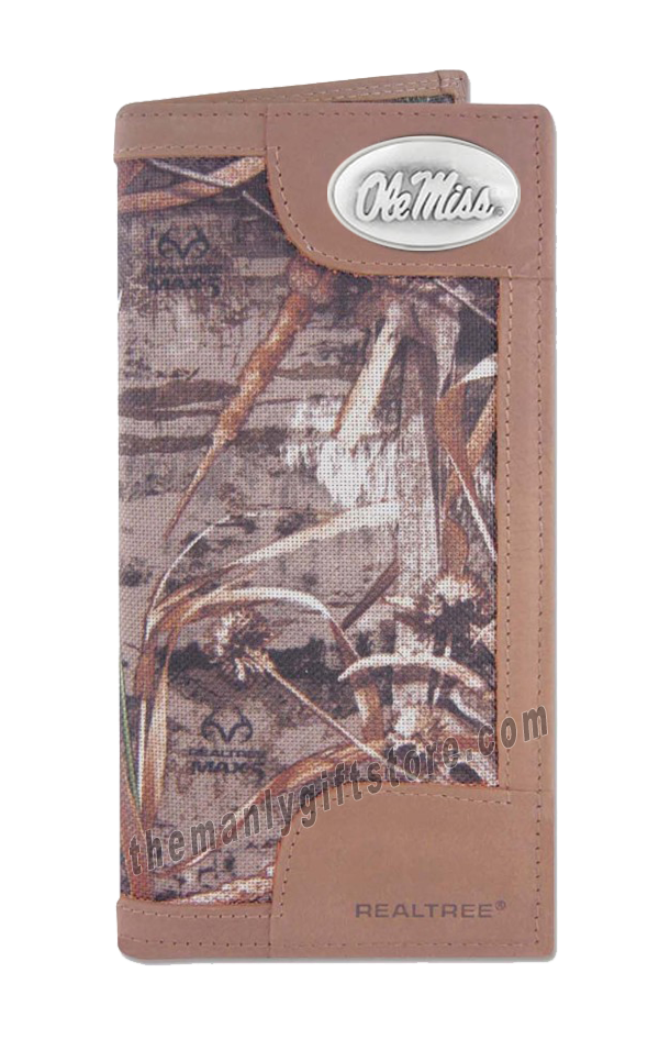 Ole Miss Rebels Roper REALTREE MAX-5 Camo Wallet