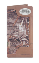 Load image into Gallery viewer, Texas Christian University TCU Roper REALTREE MAX-5 Camo Wallet