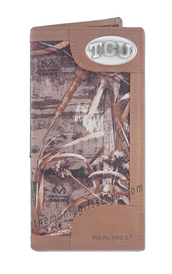 Texas Christian University TCU Roper REALTREE MAX-5 Camo Wallet