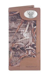 Texas Tech Red Raiders Roper REALTREE MAX-5 Camo Wallet