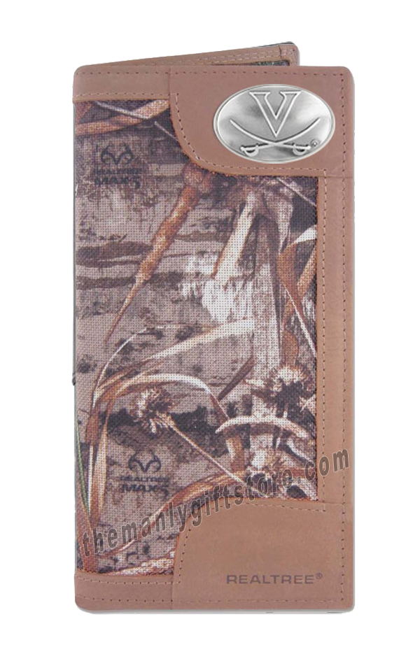Virginia Cavaliers Roper REALTREE MAX-5 Camo Wallet