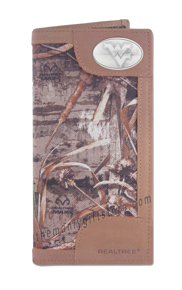 West Virginia Roper REALTREE MAX-5 Camo Wallet
