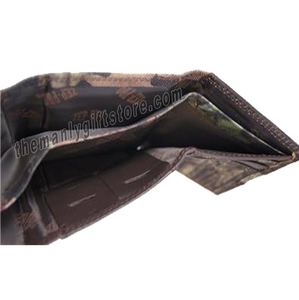Largemouth Bass Mossy Oak Camo Trifold Wallet