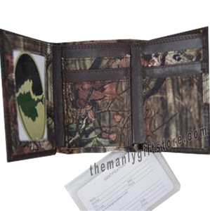 Georgia Southern Eagles Mossy Oak Camo Trifold Wallet