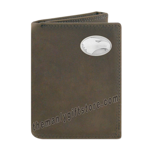 Georgia Southern Eagles Crazy Horse Genuine Leather Trifold Wallet