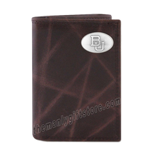 Load image into Gallery viewer, Baylor Bears Wrinkle Zep Pro Leather Trifold Wallet
