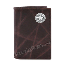 Load image into Gallery viewer, Texas Star Wrinkle Zep Pro Leather Trifold Wallet