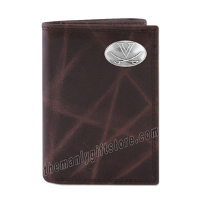 Virginia Cavaliers Wrinkle Zep Pro Leather Trifold Wallet