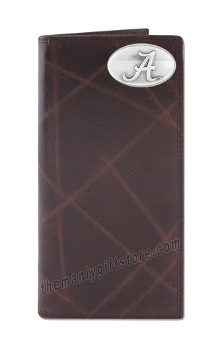Alabama Crimson Tide Wrinkle Zep Pro Leather Roper Wallet