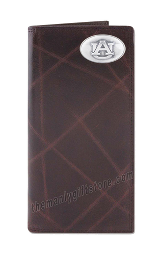 Auburn Tigers Wrinkle Zep Pro Leather Roper Wallet
