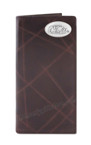 Ole Miss Rebels Wrinkle Zep Pro Leather Roper Wallet