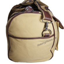 Load image into Gallery viewer, Bass Zep Pro Waxed Canvas Weekender Duffle Bag
