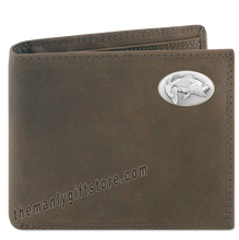 Load image into Gallery viewer, Largemouth Bass Crazy Horse Leather Bifold Wallet