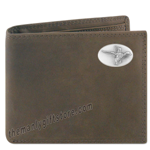 Flying Duck Genuine Crazy Horse Leather Bifold Wallet