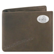 Load image into Gallery viewer, Florida State Seminoles FSU Genuine Crazy Horse Leather Bifold Wallet