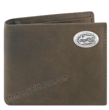 Load image into Gallery viewer, Florida Gators Genuine Crazy Horse Leather Bifold Wallet