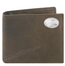 Load image into Gallery viewer, Georgia Southern Eagles  Crazy Horse Leather Bifold Wallet