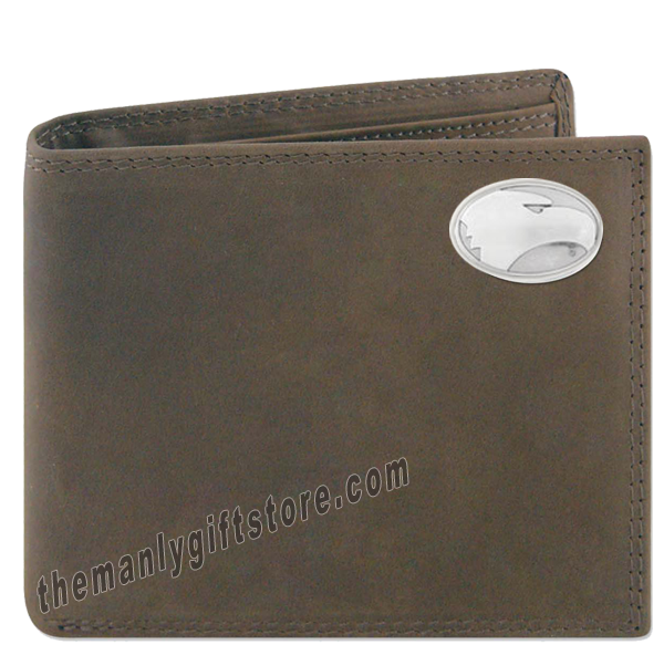 Georgia Southern Eagles  Crazy Horse Leather Bifold Wallet