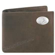 Load image into Gallery viewer, Dolphin Mahi Mahi Genuine Crazy Horse Leather Bifold Wallet