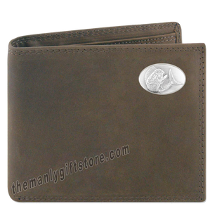 Dolphin Mahi Mahi Genuine Crazy Horse Leather Bifold Wallet