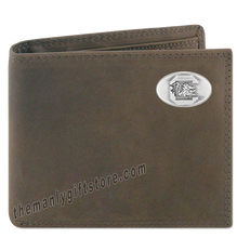 Load image into Gallery viewer, South Carolina Gamecocks Crazy Horse Leather Bifold Wallet