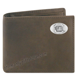 South Carolina Gamecocks Crazy Horse Leather Bifold Wallet