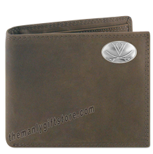 Load image into Gallery viewer, Virginia Cavaliers Genuine Crazy Horse Leather Bifold Wallet