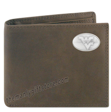 Load image into Gallery viewer, West Virginia  Genuine Crazy Horse Leather Bifold Wallet