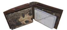 Load image into Gallery viewer, OSU Oklahoma State Mossy Oak Camo Bifold Wallet