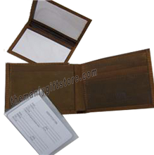 Load image into Gallery viewer, Cotton Logo Crazy Horse Genuine  Leather Bifold Wallet