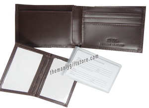 Georgia Southern Eagles Wrinkle Zep Pro Leather Bifold Wallet