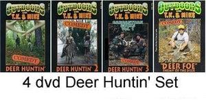 Deer Huntin' DVD Set of 4 Outdoors with TK and Mike