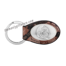 Load image into Gallery viewer, FSU Zep-Pro Leather Concho Key Fob Brown, Camo or Black