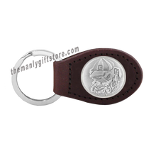 Load image into Gallery viewer, Georgia Mascot Zep-Pro Leather Concho Key Fob Brown, Camo or Black