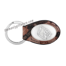 Load image into Gallery viewer, Louisville Zep-Pro Leather Concho Key Fob Brown, Camo or Black