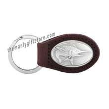 Load image into Gallery viewer, Marlin Zep-Pro Leather Concho Key Fob Brown, Camo or Black