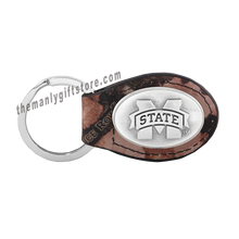 Load image into Gallery viewer, Mississippi State Zep-Pro Leather Concho Key Fob Brown, Camo or Black