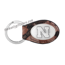 Load image into Gallery viewer, Nebraska Zep-Pro Leather Concho Key Fob Brown, Camo or Black
