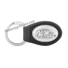 Load image into Gallery viewer, Ole Miss Zep-Pro Leather Concho Key Fob Brown, Camo or Black