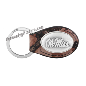 Ole Miss Zep-Pro Leather Concho Key Fob Brown, Camo or Black
