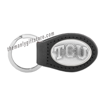 Load image into Gallery viewer, TCU Zep-Pro Leather Concho Key Fob Brown, Camo or Black