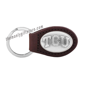 TCU Zep-Pro Leather Concho Key Fob Brown, Camo or Black