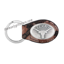 Load image into Gallery viewer, Texas Zep-Pro Leather Concho Key Fob Brown, Camo or Black