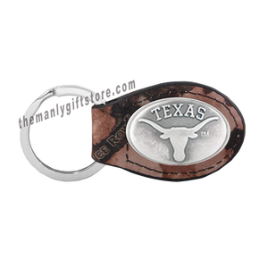 Texas Zep-Pro Leather Concho Key Fob Brown, Camo or Black