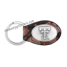 Load image into Gallery viewer, Texas Tech Zep-Pro Leather Concho Key Fob Brown, Camo or Black