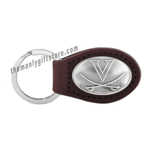 Load image into Gallery viewer, Virginia Zep-Pro Leather Concho Key Fob Brown, Camo or Black