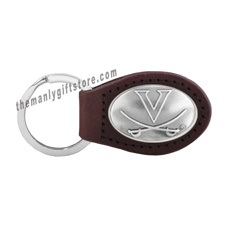 Virginia Zep-Pro Leather Concho Key Fob Brown, Camo or Black